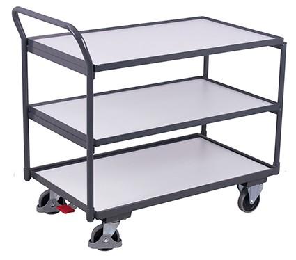 VARIOfit ESD Tischwagen mit 3 Ladeflächen 975 x 525 mm