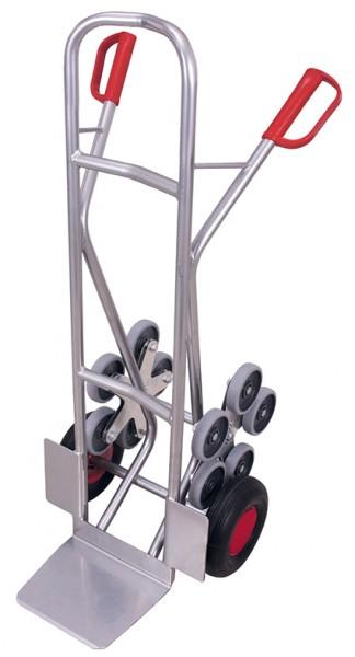 VARIOfit Aluminium Treppenkarre mit 2 fünfarmige Radsterne 610 x 705 mm