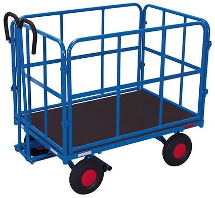VARIOfit Handpritschenwagen mit 2 Rohrgitterwänden 2065 x 1015 mm