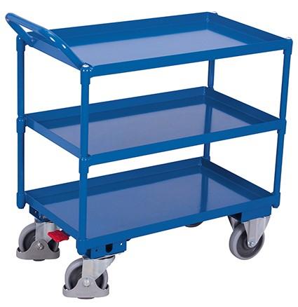 VARIOfit Tischwagen mit 3 Ladeflächen 1165 x 700 mm