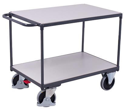 VARIOfit Schwerer ESD Tischwagen mit 2 Ladeflächen 1190 x 600 mm