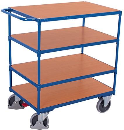 VARIOfit Schwerer Tischwagen mit 4 Ladeflächen 1390 x 800 mm