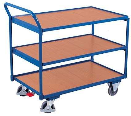 VARIOfit Tischwagen mit 3 Ladeflächen 975 x 525 mm