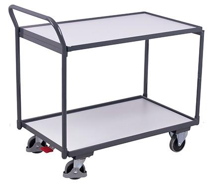 VARIOfit ESD Tischwagen mit 2 Ladeflächen 975 x 525 mm