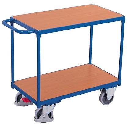VARIOfit Schwerer Tischwagen mit 2 Ladeflächen 1390 x 800 mm