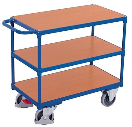 VARIOfit Schwerer Tischwagen mit 3 Ladeflächen 1390 x 800 mm