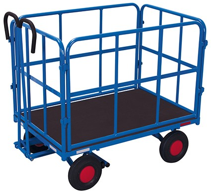 VARIOfit Handpritschenwagen mit 4 Rohrgitterwänden 1320 x 815 mm
