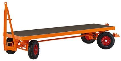 VARIOfit Industrieanhänger mit 4-Rad-Achsschenkellenkung 2810 x 1250 mm