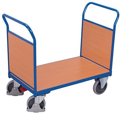 VARIOfit Doppel-Stirnwandwagen mit Holz 1390 x 800 mm