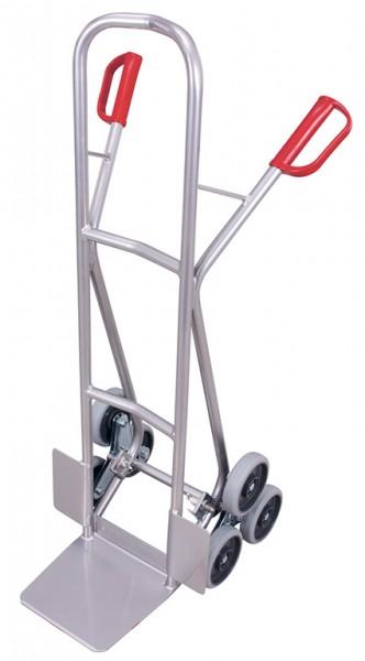 VARIOfit Aluminium Treppenkarre mit 2 dreiarmige Radsternen 610 x 630 mm