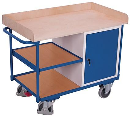 VARIOfit Werkstattwagen mit 3 Ladeflächen 1220 x 640 mm