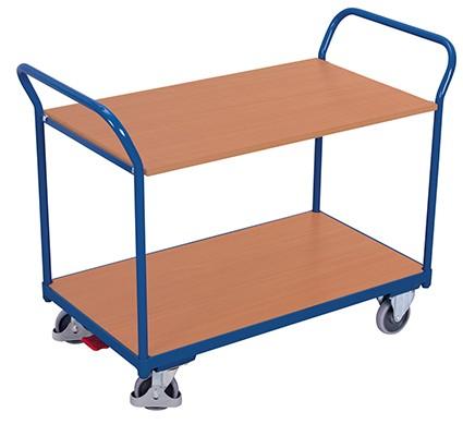 VARIOfit Tischwagen mit 2 Ladeflächen 1195 x 600 mm