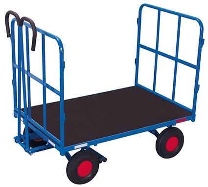 VARIOfit Handpritschenwagen mit 2 Rohrgitterwänden 1320 x 815 mm