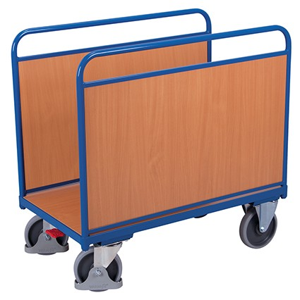 VARIOfit Seitenbügelwagen mit Holzwänden 1060 x 600 mm