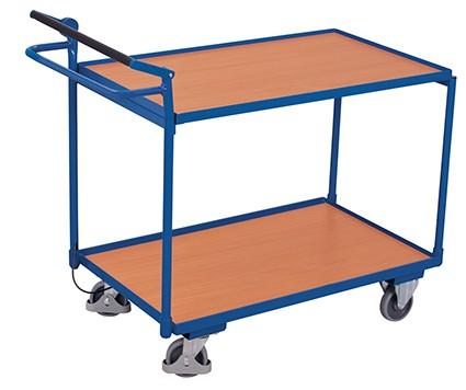 VARIOfit Tischwagen mit 2 Ladeflächen und Totmannbremse 1155 x 625 mm