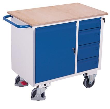 VARIOfit Werkstattwagen mit 4 Schubladen 1110 x 600 mm