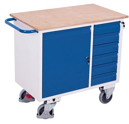 VARIOfit Werkstattwagen mit 6 Schubladen 1110 x 600 mm