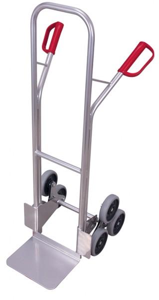 VARIOfit Aluminium Treppenkarre mit 2 dreiarmige Radsterne 620 x 625 mm