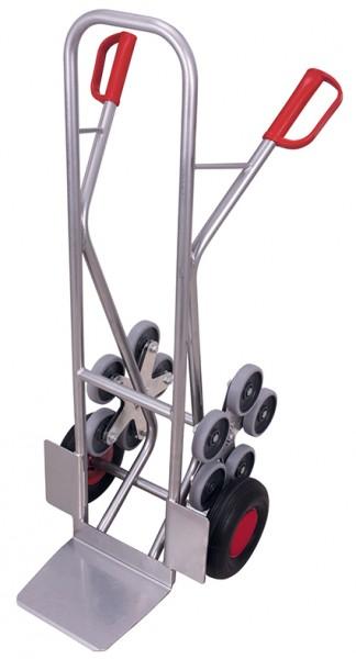 VARIOfit Aluminium Treppenkarre mit 2 fünfarmige Radsterne 610 x 675 mm