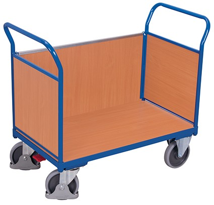 VARIOfit Dreiwandwagen mit Holz 1190 x 700 mm