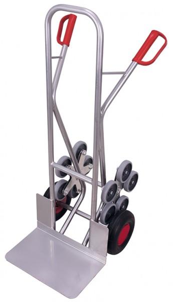 VARIOfit Aluminium Treppenkarre mit 2 fünfarmige Radsterne 610 x 725 mm