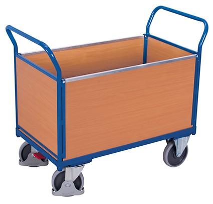 VARIOfit Vierwandwagen mit Holz 1390 x 800 mm