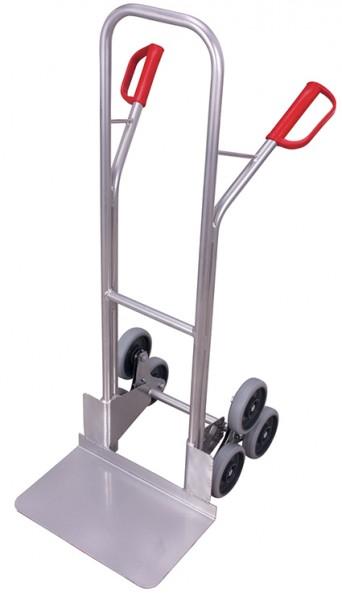 VARIOfit Aluminium Treppenkarre mit 2 dreiarmige Radsterne 620 x 675 mm