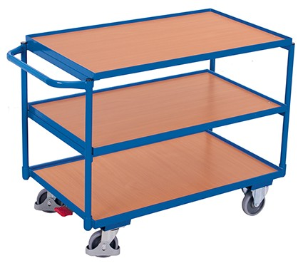 VARIOfit Tischwagen mit 3 Ladeflächen 1175 x 625 mm