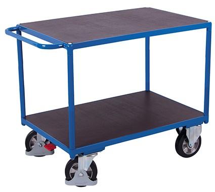 VARIOfit Schwerlast Tischwagen mit 2 Ladeflächen 1390 x 800 mm