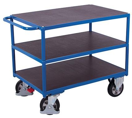 VARIOfit Schwerlast Tischwagen mit 3 Ladeflächen 1390 x 800 mm