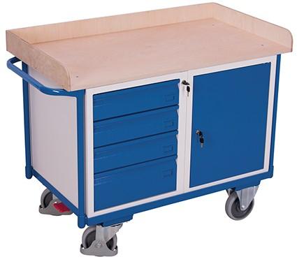 VARIOfit Werkstattwagen mit 1 Ladefläche 1220 x 640 mm