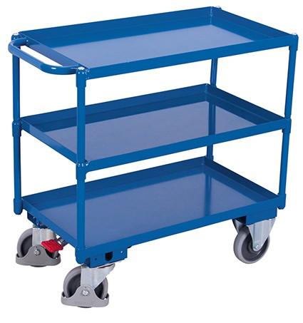 VARIOfit Tischwagen mit 3 Ladeflächen 985 x 500 mm