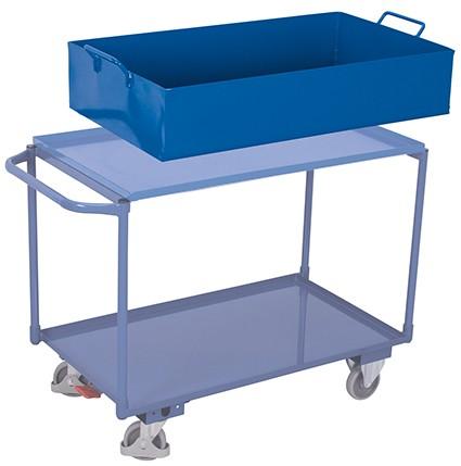 VARIOfit Abnehmbare Stahlblechwanne für Tischwagen 1075 x 590 mm